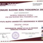 Nagroda Budowa Roku Podkarpacia 2006 - Instytut Muzyki
